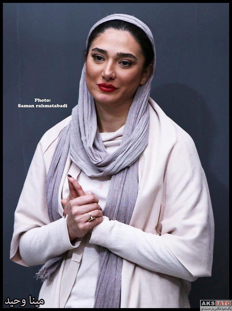 بازیگران بازیگران زن ایرانی  مینا وحید در پشت صحنه نمایش دزدان شماره ۴۳ (3 عکس)