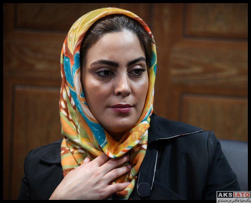 بازیگران بازیگران زن ایرانی  نیلوفر شهیدی در نشست خبری سریال وارش (۴ عکس)