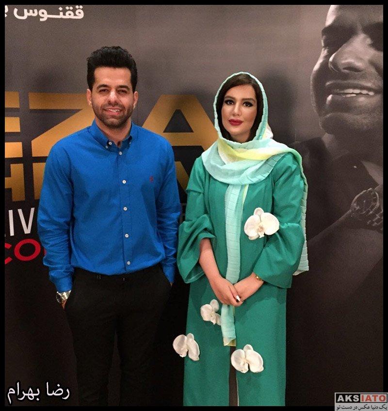 بازیگران خوانندگان دستهبندی نشده  رضا بهرام در کنار صدف هاشمی (4 عکس)