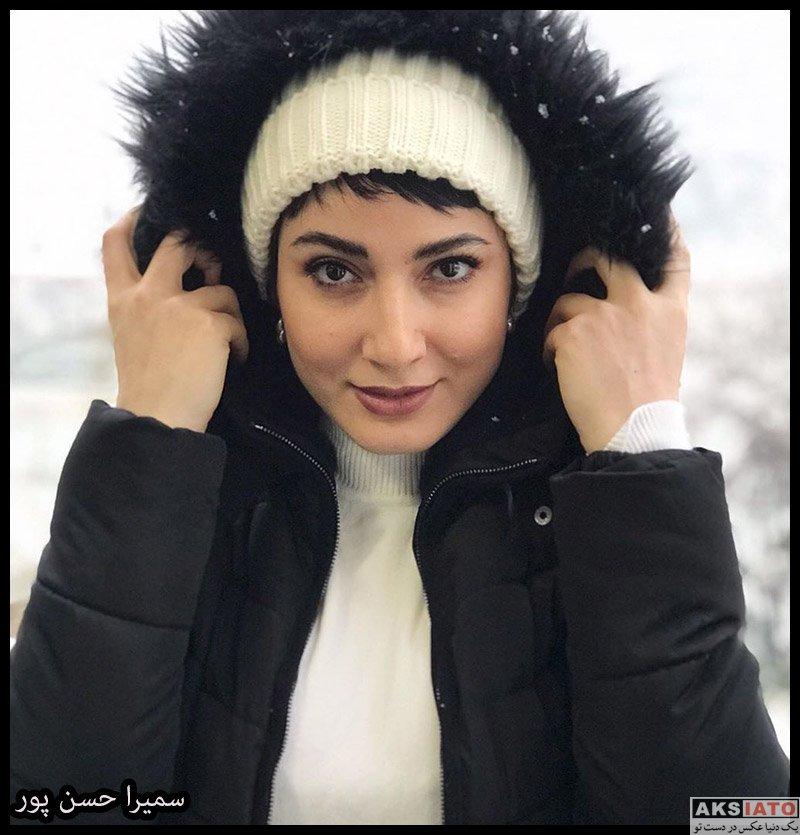 بازیگران بازیگران زن ایرانی  سمیرا حسن پور در روز برفی تهران در دی ماه ۹۸ (۳ عکس)