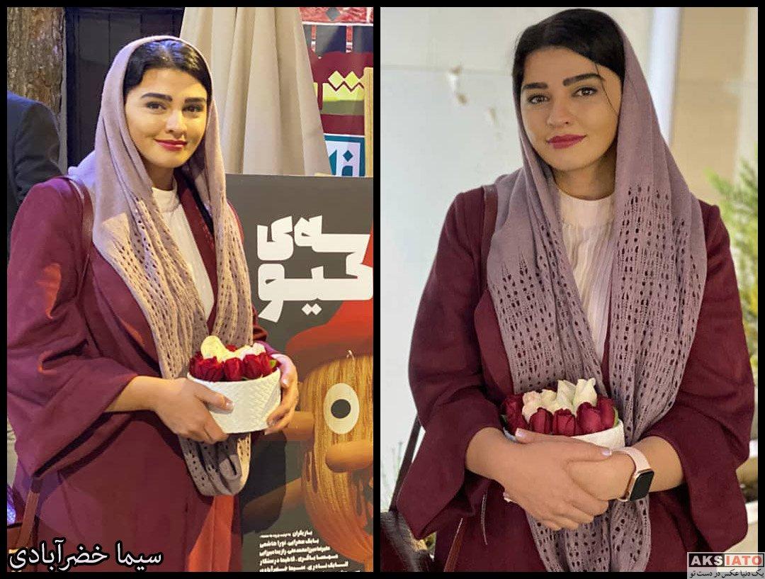 بازیگران بازیگران زن ایرانی  سیما خضرآبادی در پشت صحنه نمایش مدرسه پینوکیو (4 عکس)