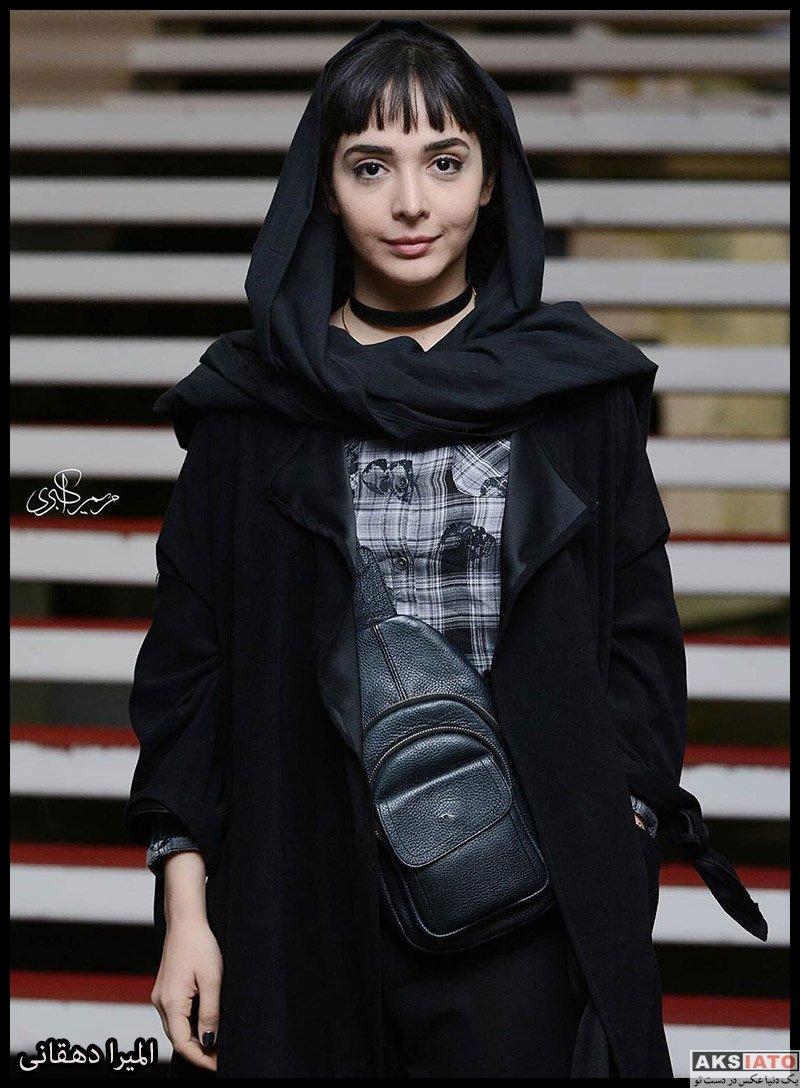 بازیگران جشنواره فیلم فجر  المیرا دهقانی در سی و هشتمین جشنواره فیلم فجر (۴ عکس)