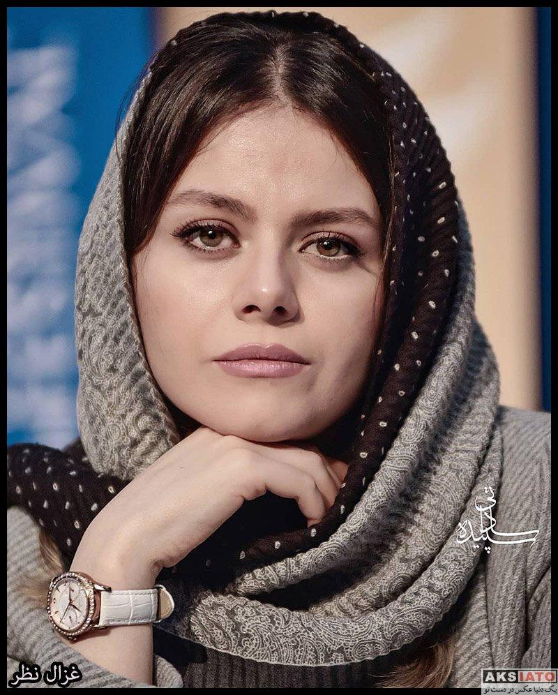 بازیگران جشنواره فیلم فجر  غزال نظر در روز هشتم سی و هشتمین جشنواره فیلم فجر (۶ عکس)