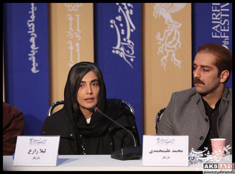بازیگران جشنواره فیلم فجر  لیلا زارع در روز پنجم سی و هشتمین جشنواره فیلم فجر (۶ عکس)