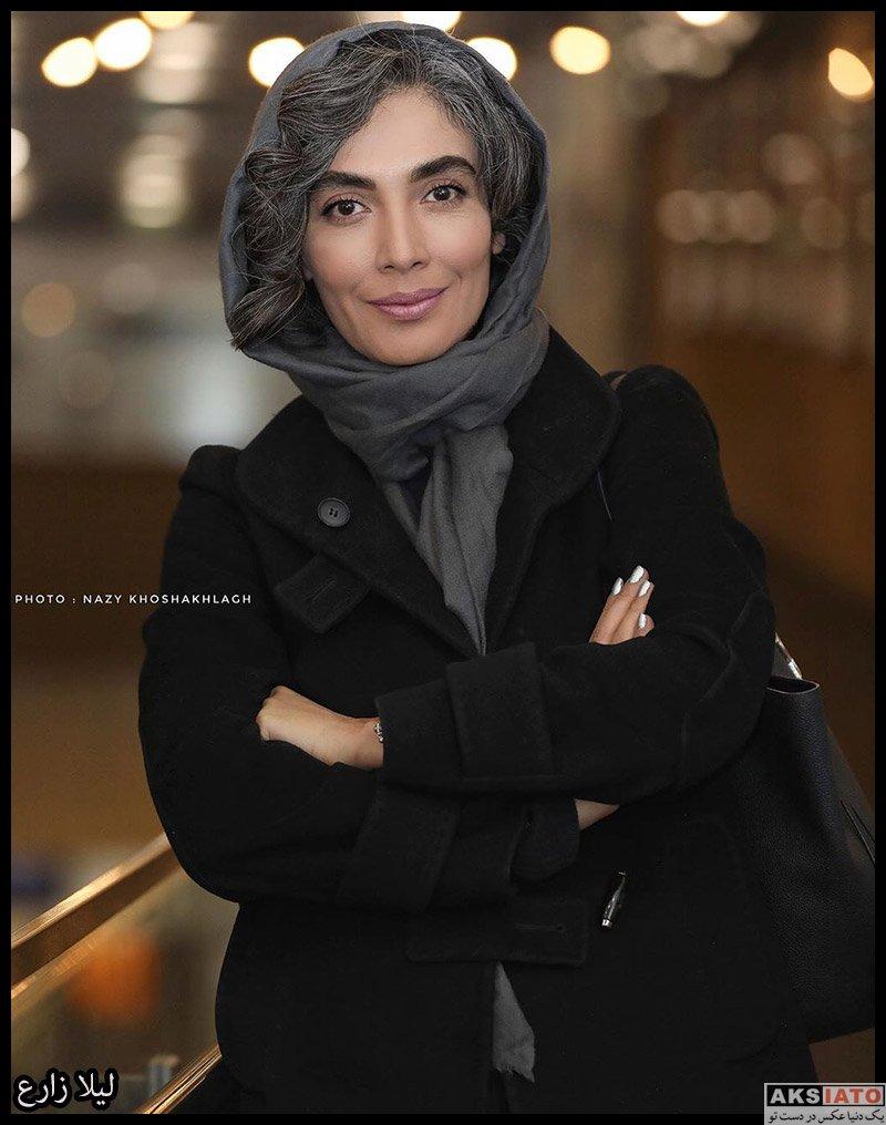 بازیگران جشنواره فیلم فجر  لیلا زارع در روز نهم سی و هشتمین جشنواره فیلم فجر (۴ عکس)