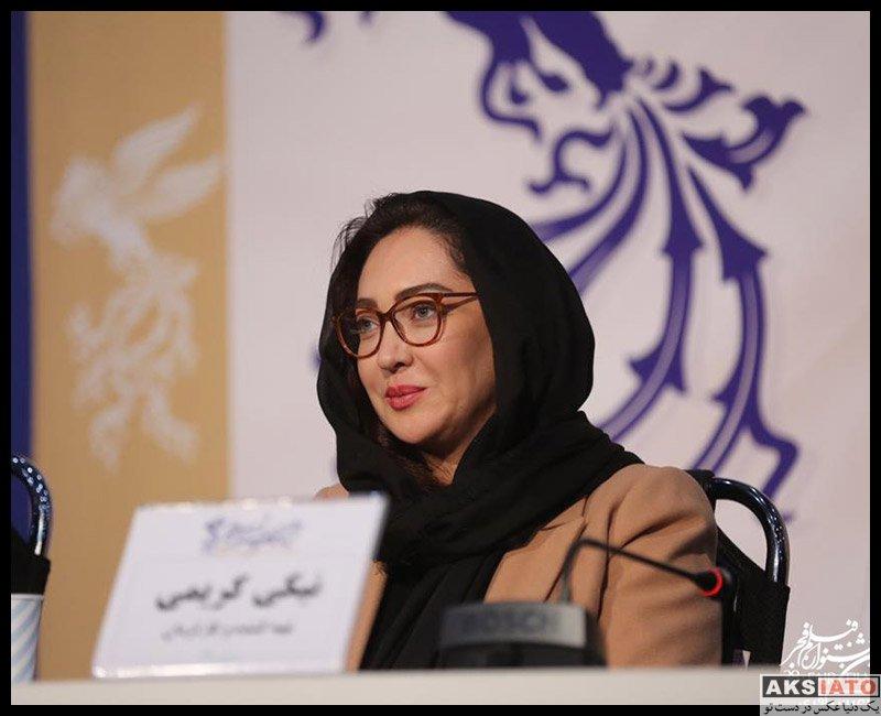 بازیگران جشنواره فیلم فجر  نیکی کریمی در روز هفتم سی و هشتمین جشنواره فیلم فجر (۴ عکس)