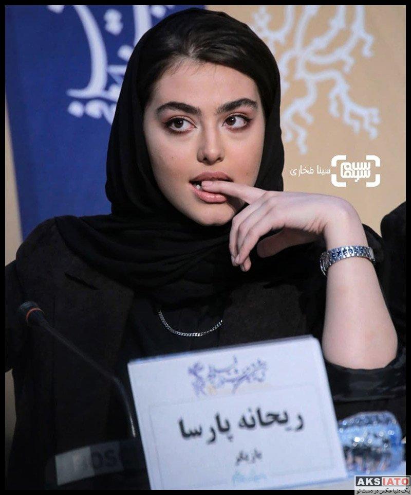 بازیگران جشنواره فیلم فجر  ریحانه پارسا در روز پنجم سی و هشتمین جشنواره فیلم فجر (۶ عکس)
