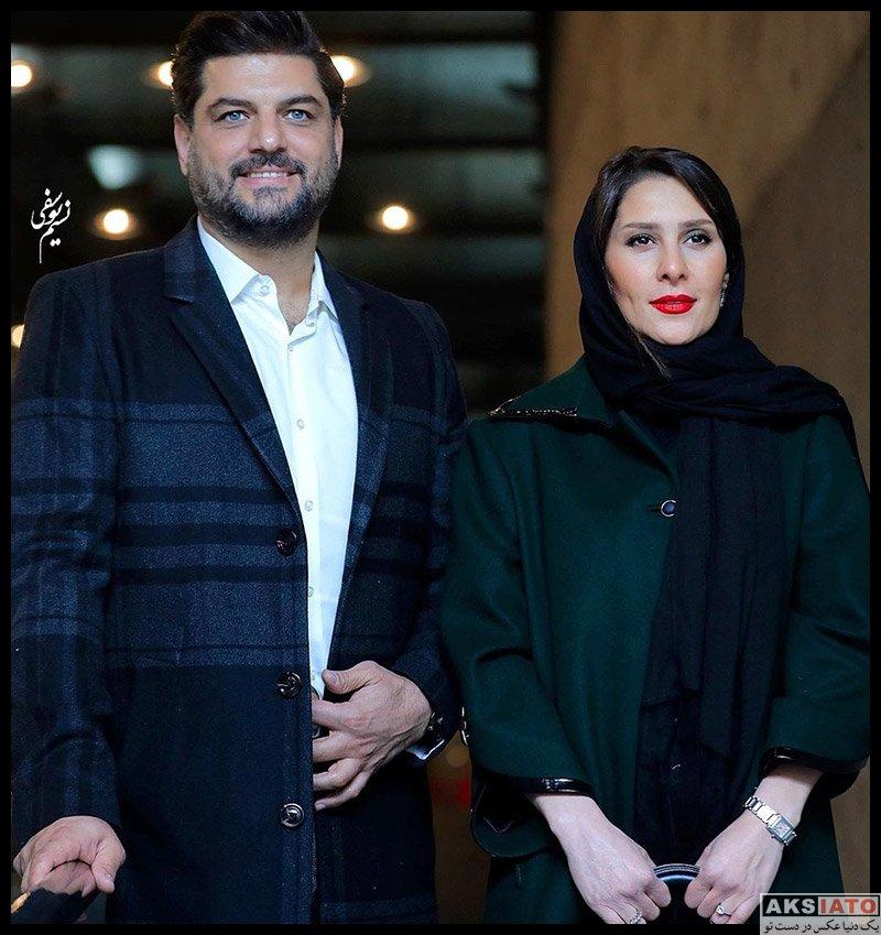 جشنواره فیلم فجر خانوادگی  سام درخشانی و همسرش در سی و هشتمین جشنواره فیلم فجر (3 عکس)