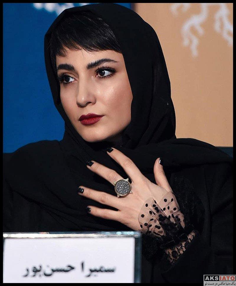 بازیگران جشنواره فیلم فجر  سمیرا حسن پور در روز اول سی و هشتمین جشنواره فیلم فجر (4 عکس)