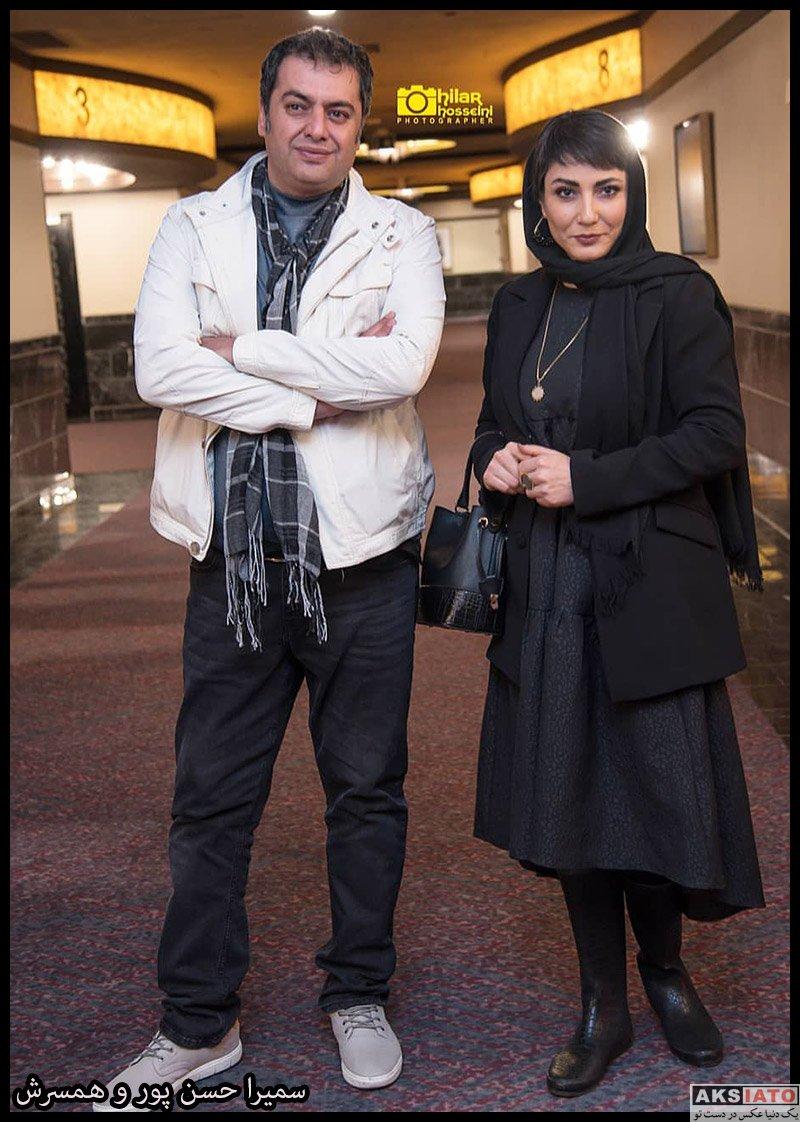 بازیگران جشنواره فیلم فجر  سمیرا حسن پور در روز سوم سی و هشتمین جشنواره فیلم فجر (4 عکس)