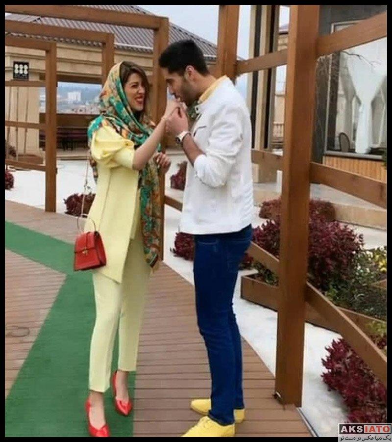 علی شفیعی و همسرش آناهیتا قنبری (۳ عکس) - عکسیاتو