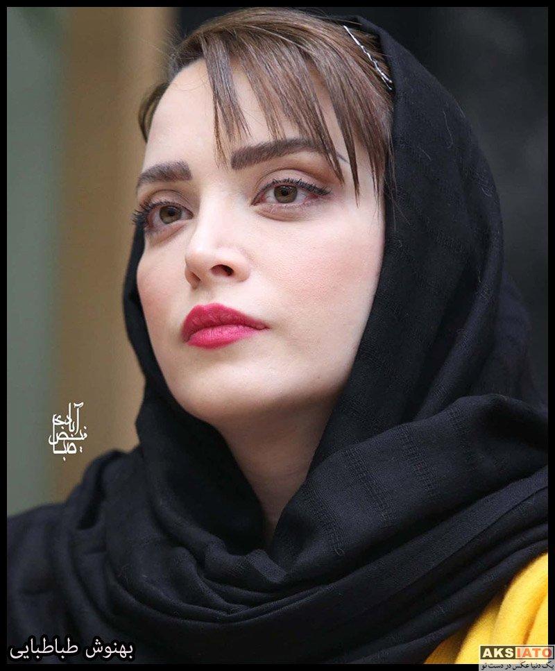 بازیگران بازیگران زن ایرانی  بهنوش طباطبایی در نشست خبری نمایش روزهای رادیو (6 عکس)