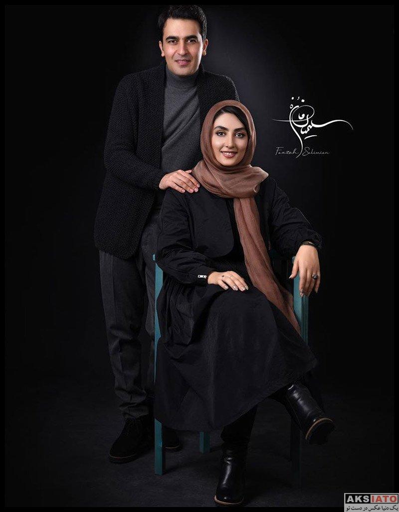 عکس آتلیه و استودیو  عکس های آتلیه الهام طهموری و همسرش برای روزنامه هنرمند