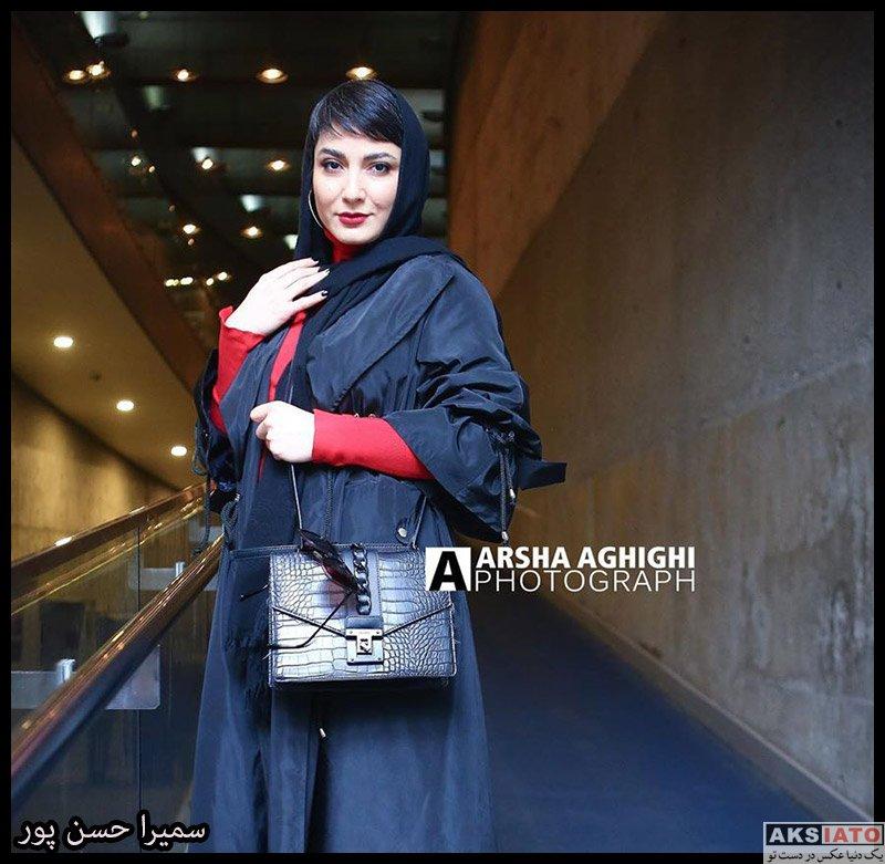بازیگران جشنواره فیلم فجر  سمیرا حسن پور در روز نهم سی و هشتمین جشنواره فیلم فجر (۴ عکس)