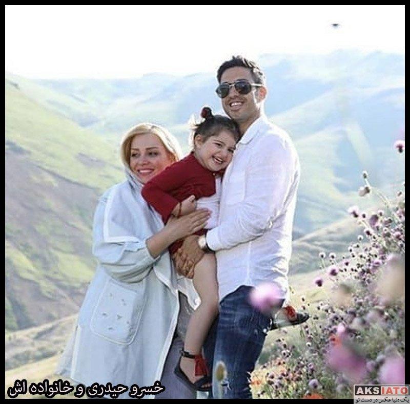 خانوادگی ورزشکاران مرد  خسرو حیدری و همسر و دخترش در نوروز 99 (2 عکس)