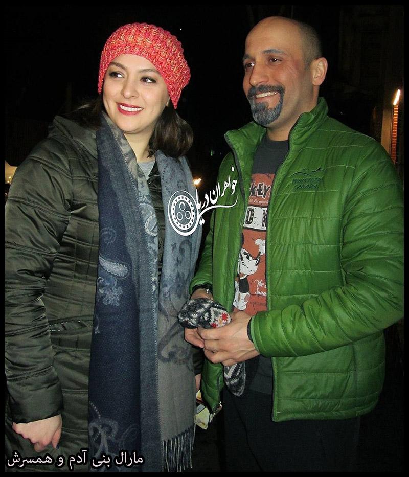 خانوادگی  مارال بنی آدم بازیگر سریال هم گناه و همسرش (6 عکس)
