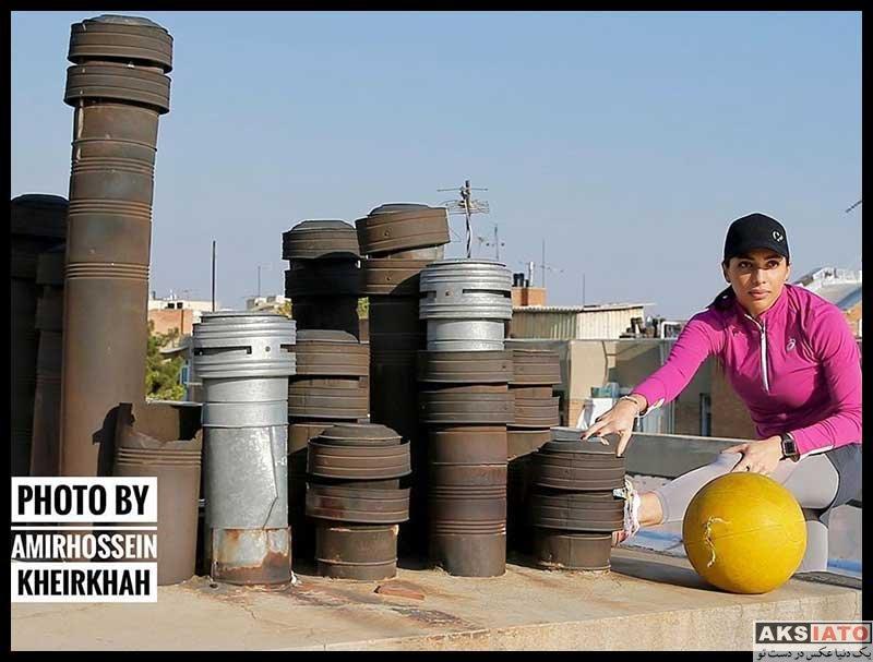 ورزشکاران ورزشکاران زن  مریم طوسی قهرمان دو ایران در دوران قرنطینه (6 عکس)