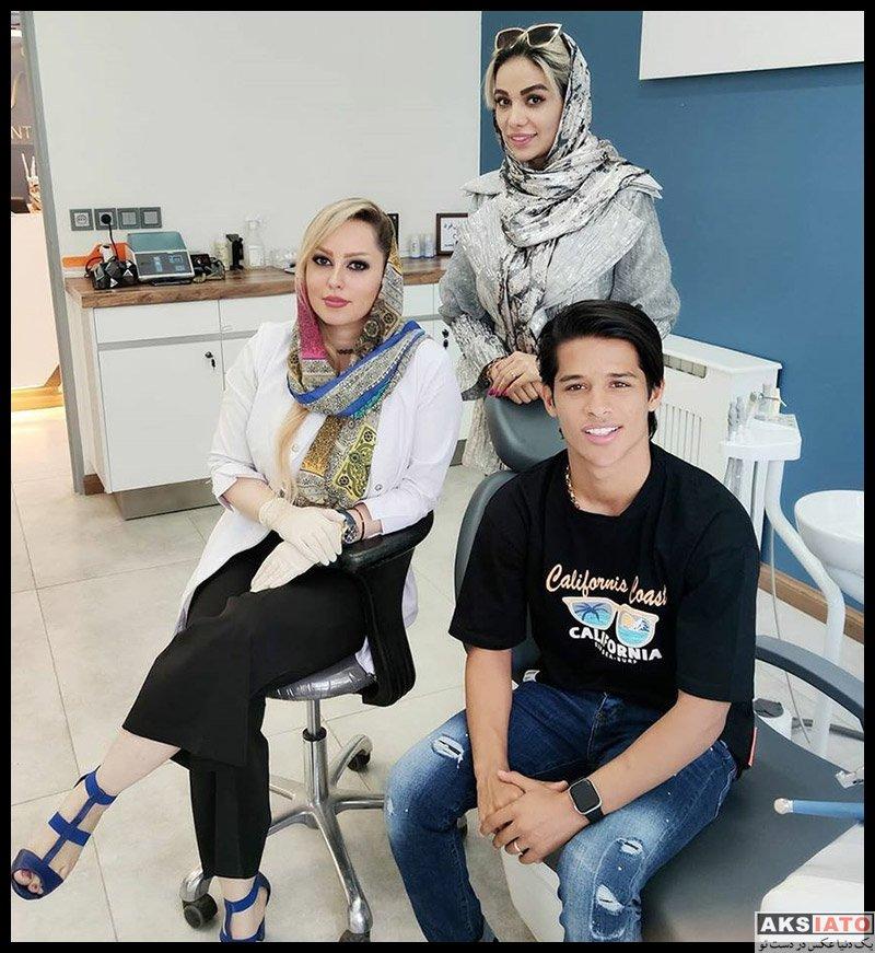 خانوادگی ورزشکاران مرد  مهدی قایدی و همسرش در مطب دندانپزشکی (2 عکس)