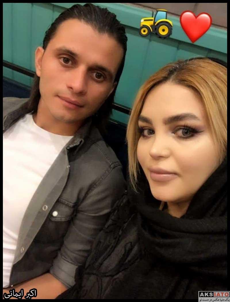 خانوادگی ورزشکاران ورزشکاران مرد  اکبر ایمانی به همراه همسرش پریسا (2 عکس)