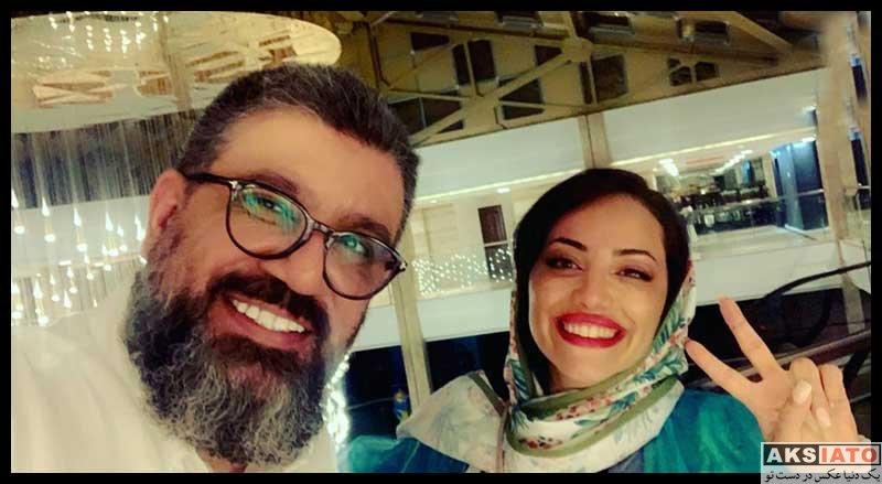 بازیگران مجریان  رضا رشیدپور در کنار دختر شاخ اینستاگرامی (2 عکس)