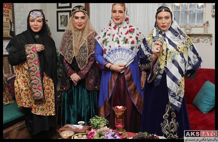بازیگران بازیگران زن ایرانی  دورهمی بازیگران برنامه شام ایرانی (6 عکس)