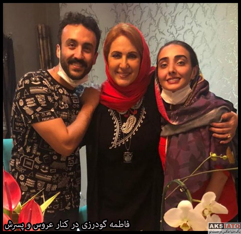 بازیگران بازیگران زن ایرانی جشن تولد ها  جشن تولد 57 سالگی فاطمه گودرزی در کنار فرزندانش (3 عکس)