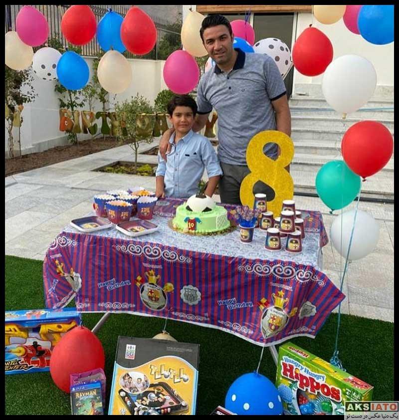 ورزشکاران ورزشکاران مرد  جواد نکونام در کنار فرزندانش در جشن تولد پسرش (3 عکس)