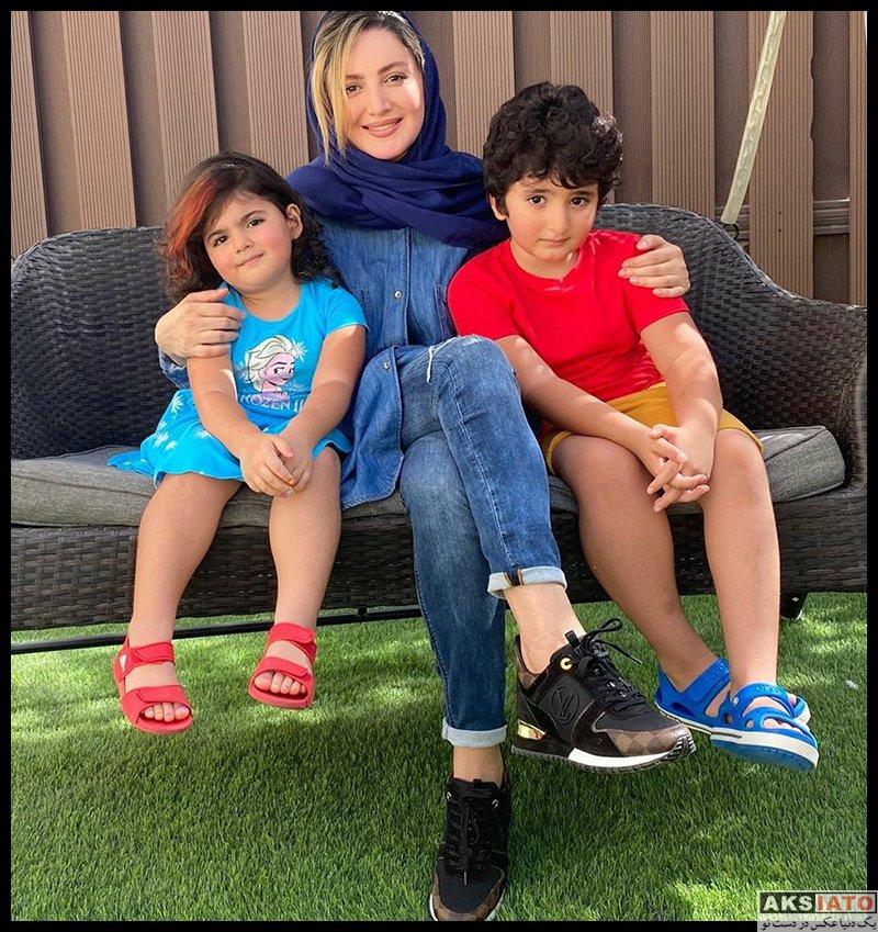 خانوادگی  شیلا خداداد در کنار فرزندانش در تابستان 99 (4 عکس)