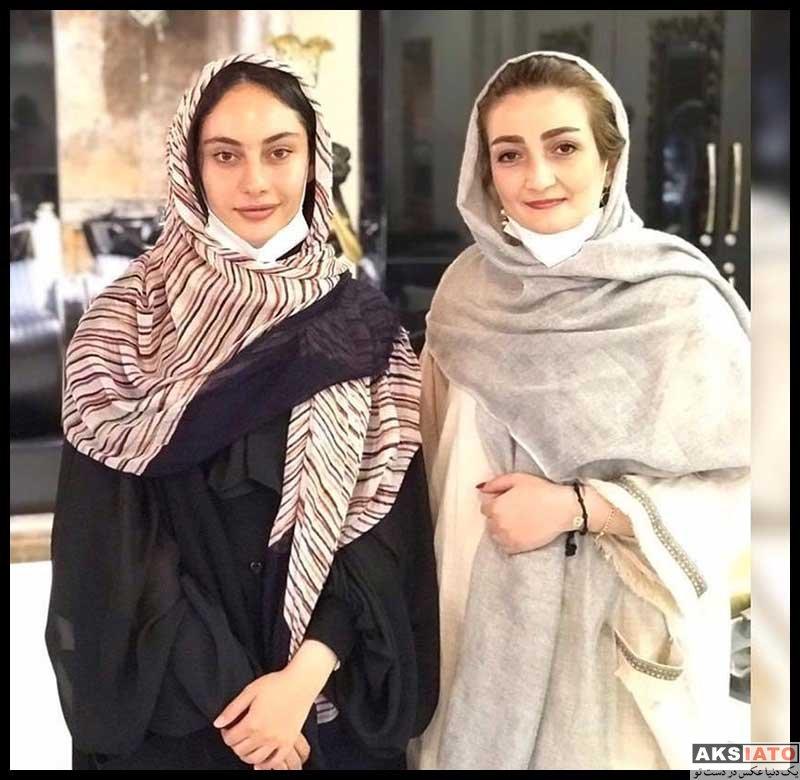 بازیگران بازیگران زن ایرانی  ترلان پروانه در سالن زیبایی شیرین مقدم در مرداد ۹۹ (۴ عکس)