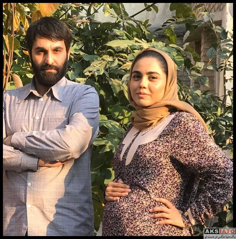 بازیگران بازیگران زن ایرانی  آزاده زارعی در پشت صحنه سریال شاهرگ (6 عکس)