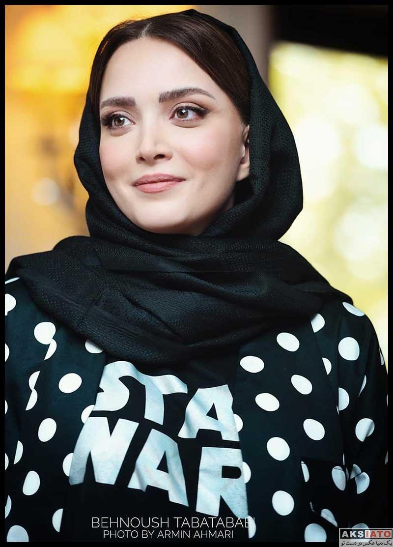 بازیگران بازیگران زن ایرانی  بهنوش طباطبایی در نشست نمایش عشق روزهای کرونا (4 عکس)