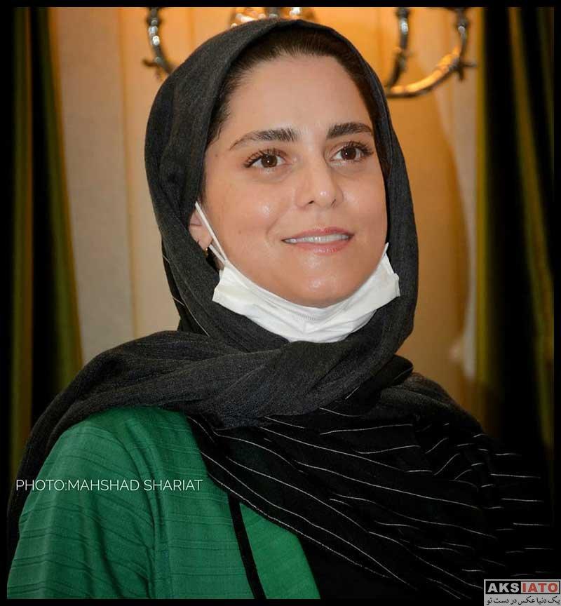بازیگران بازیگران زن ایرانی  غزل شاکری در نشست نمایش عشق روزهای کرونا (۴ عکس)