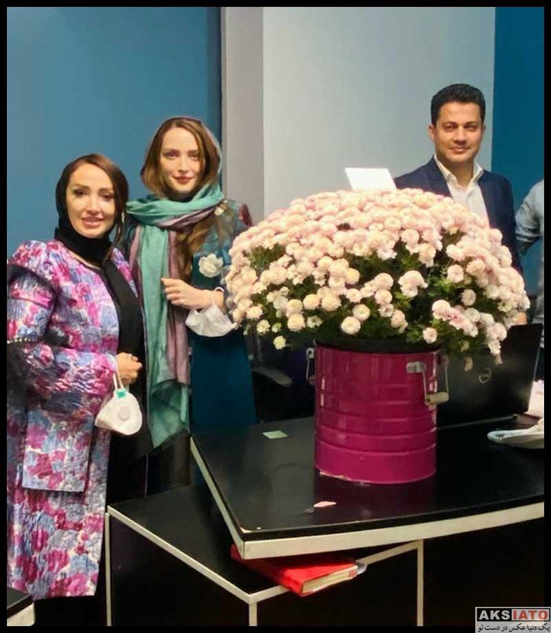 بازیگران بازیگران زن ایرانی  بهنوش طباطبایی در جشن گرفتن مدرک دکتری (3 عکس)