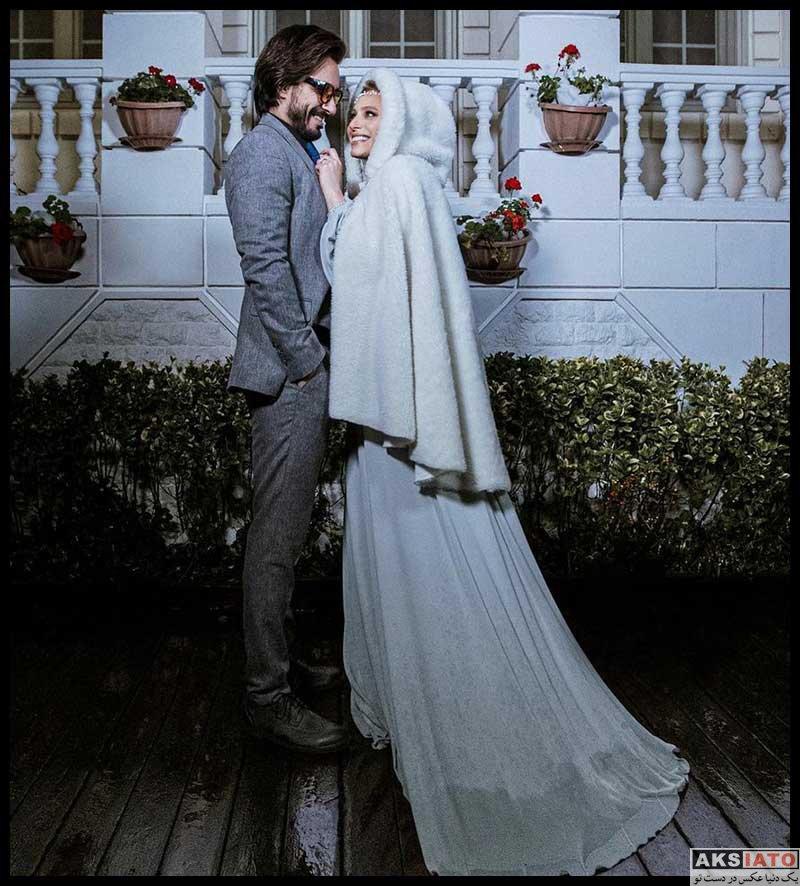 خانوادگی  مراسم ازدواج نگین معتضدی با کارگردان سینما (3 عکس)