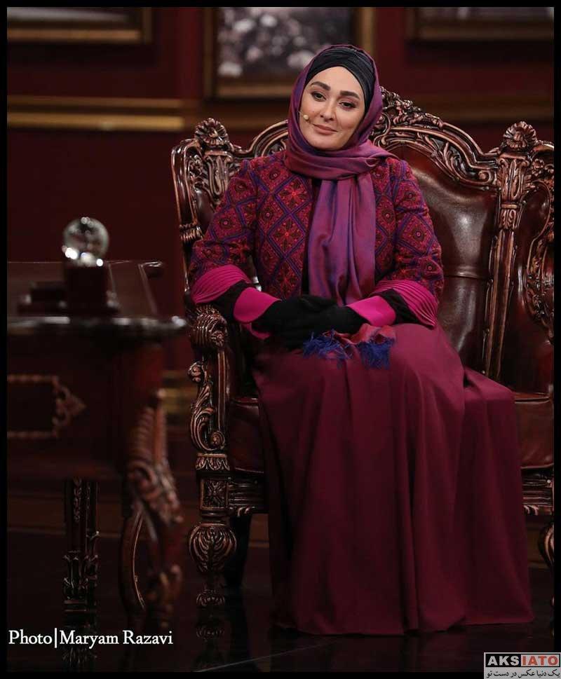 بازیگران بازیگران زن ایرانی  الهام حمیدی در برنامه دورهمی (2 عکس)