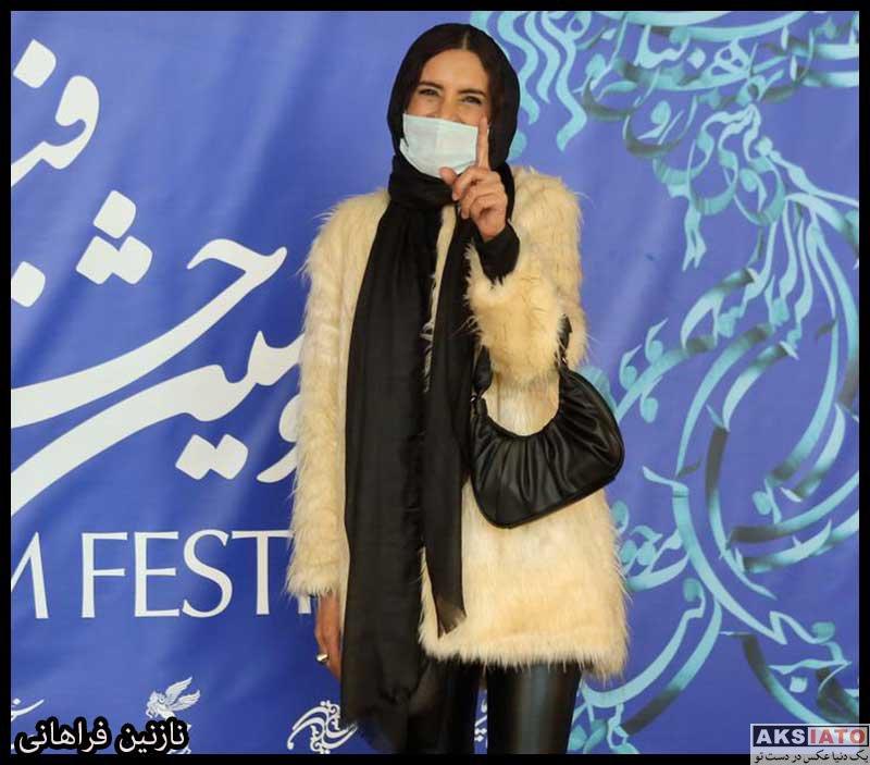 بازیگران جشنواره فیلم فجر  نازنین فراهانی در سی و نهمین جشنواره فیلم فجر (۴ عکس)