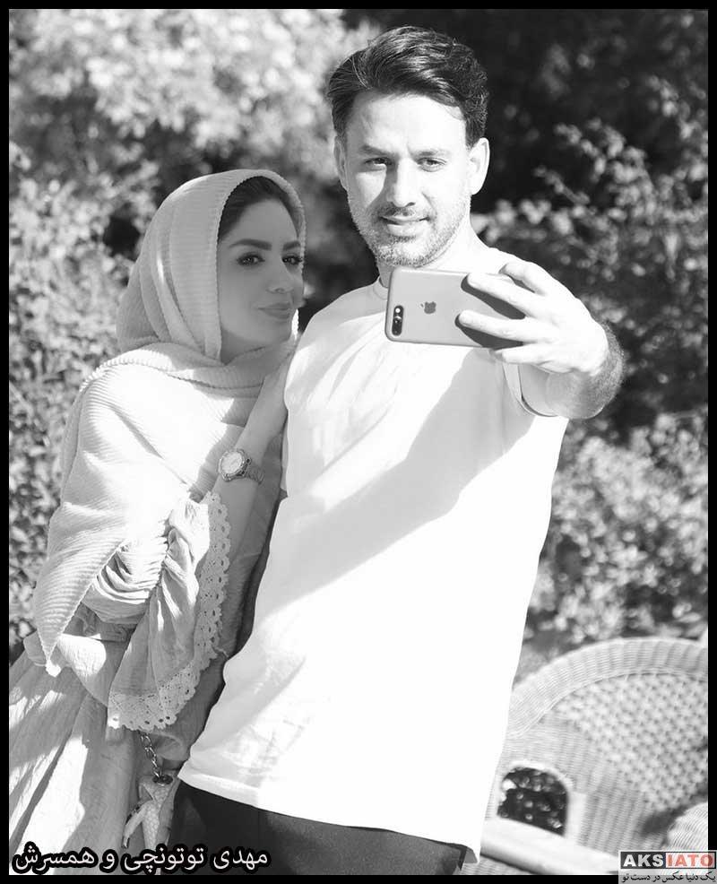 خانوادگی  مبینا نصیری و همسرش مهدی توتونچی (3 عکس)