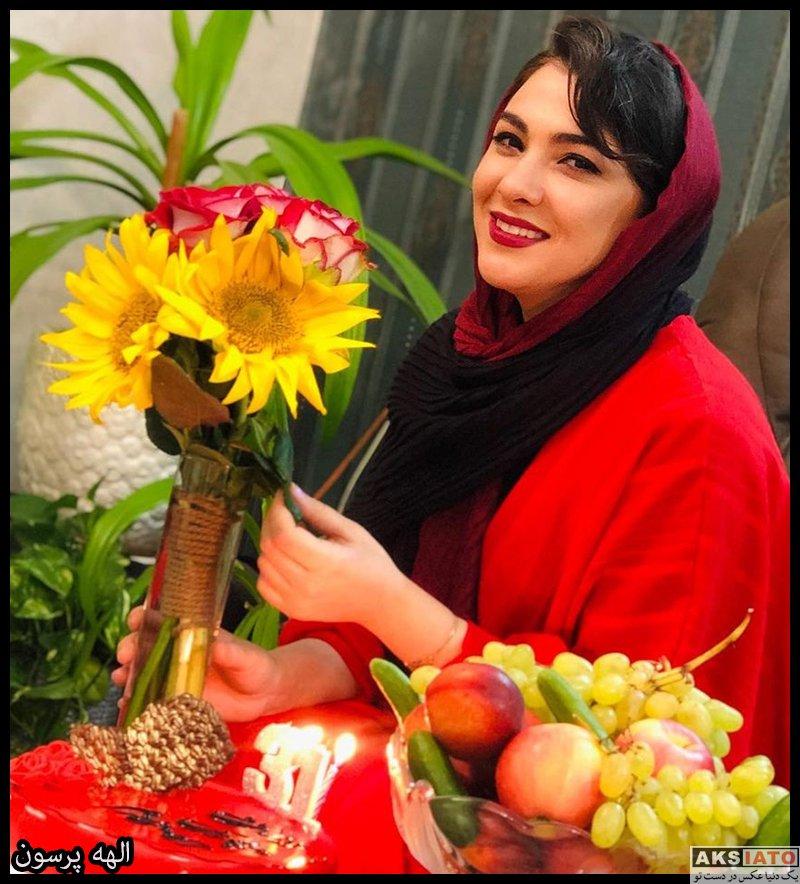 بازیگران مجریان  الهه پرسون مجری بازیگر برنامه شهران (8 عکس)