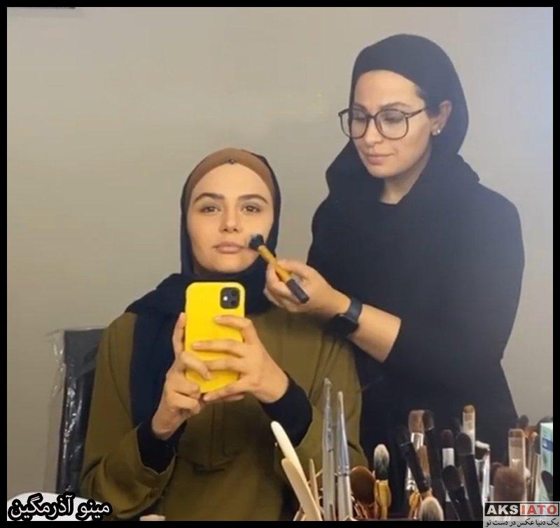 بازیگران بازیگران زن ایرانی  مینو آذرمگین بازیگر نقش زهره در سریال احضار (10 عکس)