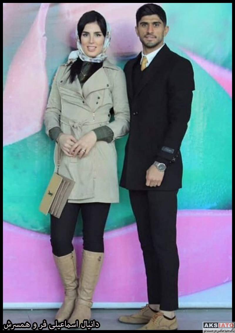 ورزشکاران ورزشکاران مرد  دانیال اسماعیلی فر و همسرش ندا چملانیان (3 عکس)