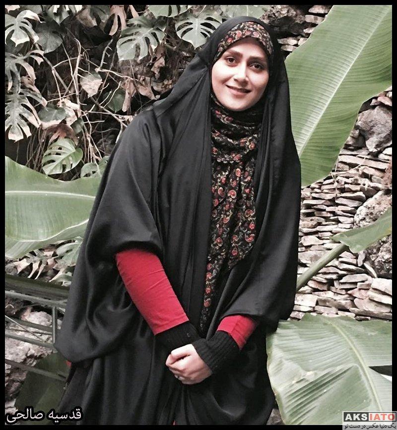 بازیگران مجریان  قدسیه صالحی مجری برنامه سلام تهران (6 عکس)