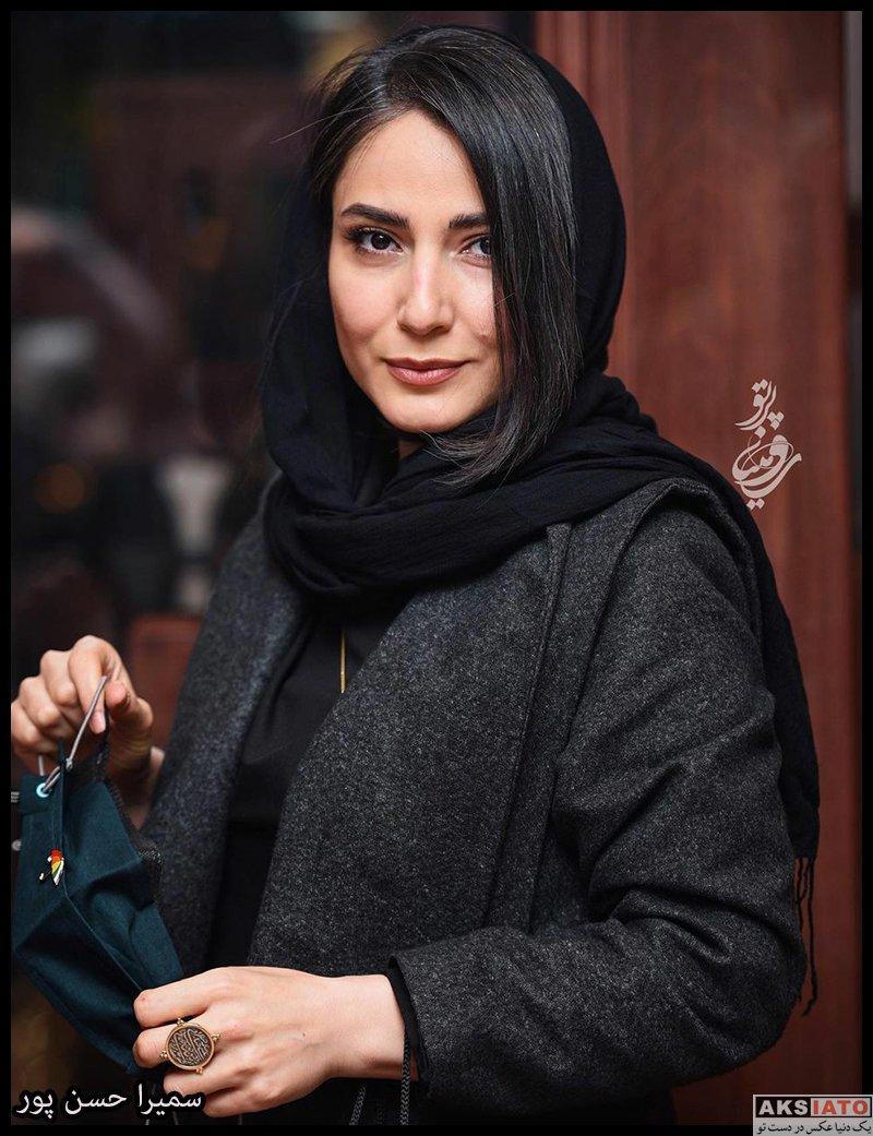 بازیگران بازیگران زن ایرانی  سمیرا حسن پور در مراسم افتتاحیه جواهر فروشی آرت اند گلد (۳ عکس)