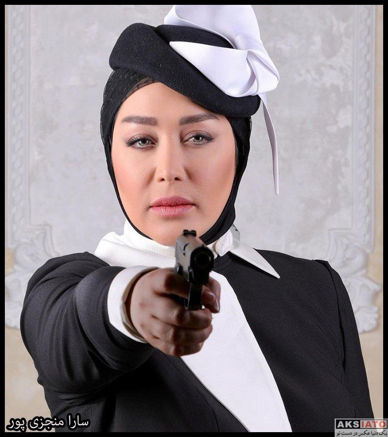 بازیگران بازیگران زن ایرانی  سارا منجزی پور در برنامه شب های مافیا (6 عکس)