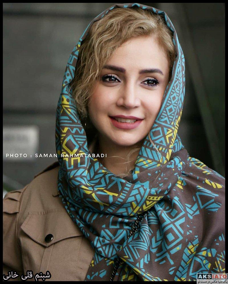 بازیگران زن ایرانی خانوادگی  شبنم قلی خانی و همسرش در اکران مردمی فیلم تکخال (4 عکس)