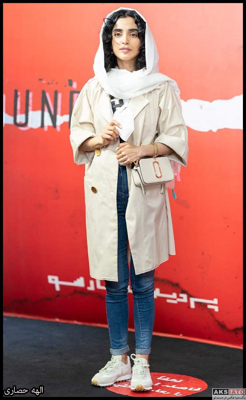 بازیگران بازیگران زن ایرانی  الهه حصاری در اکران سریال زخم کاری (6 عکس)