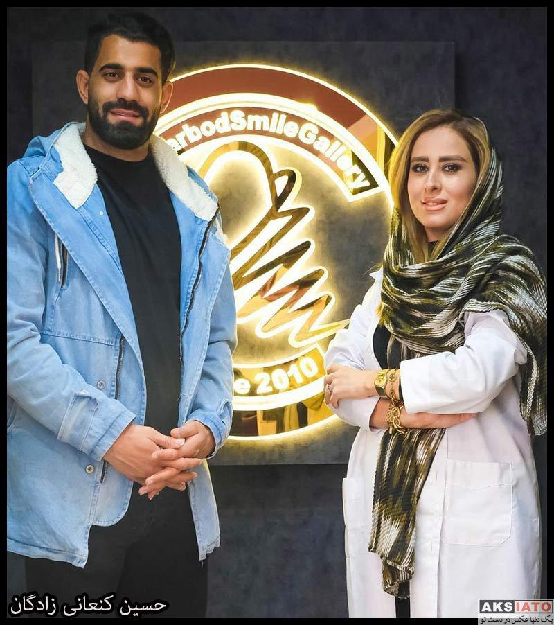 ورزشکاران ورزشکاران مرد  حسین کنعانی در مطب خانم دندانپزشک (4 عکس)