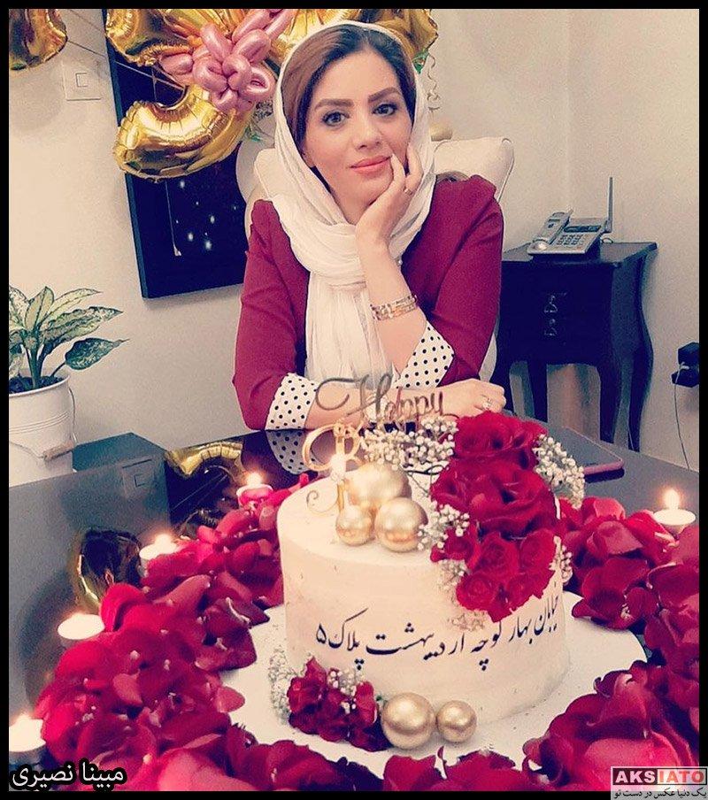جشن تولد ها مجریان  تولد 34 سالگی مبینا نصیری در کنار همسرش (3 عکس)