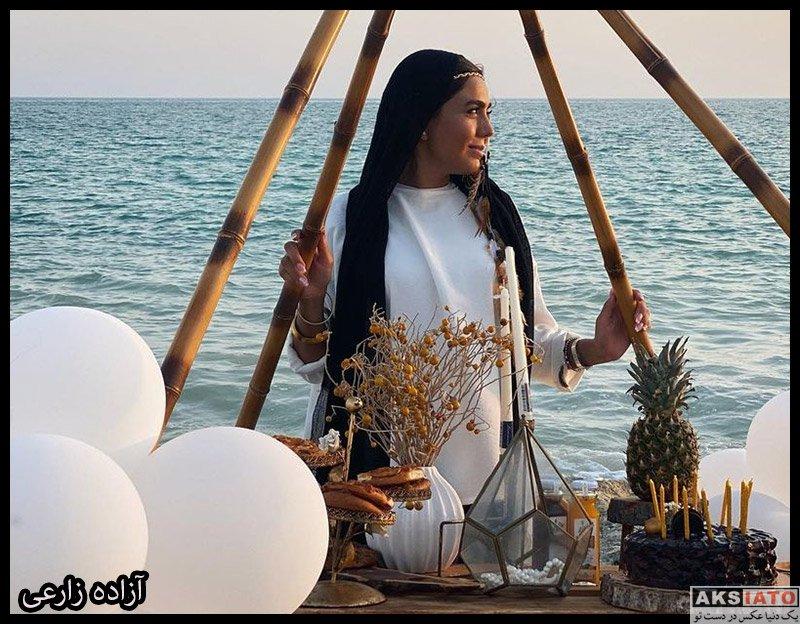 بازیگران جشن تولد ها  جشن تولد لاکچری 32 سالگی آزاده زارعی (6 عکس)