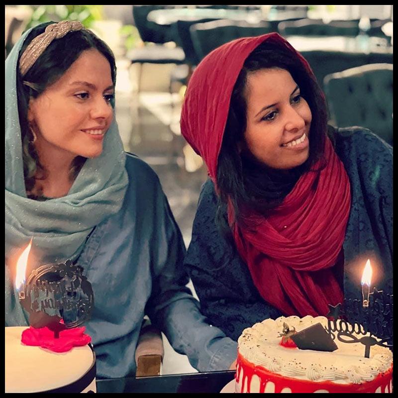 بازیگران جشن تولد ها  جشن تولد 34 سالگی غزال نظر (3 عکس)
