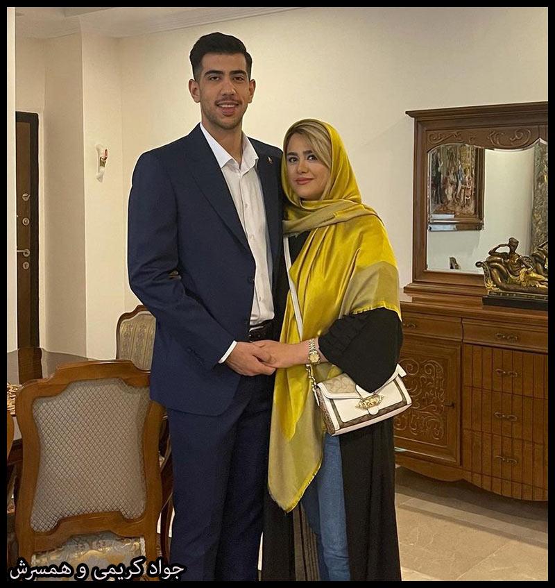 ورزشکاران مرد  جواد کریمی و همسرش غزاله (4 عکس)
